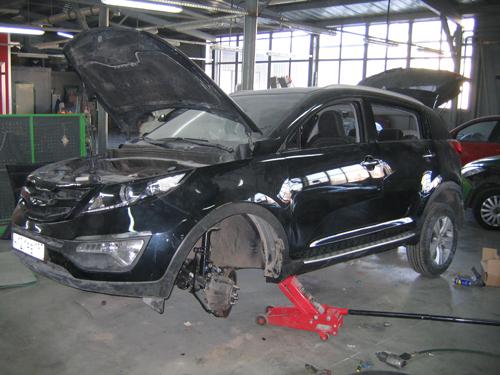 кузовной ремонт КИА спортейдж